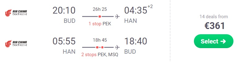 cheap flights budapest vietnam