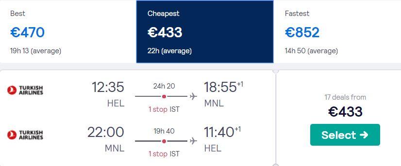 cheap flights helsinki philippines