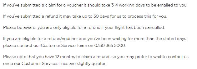 EasyJet refund application form