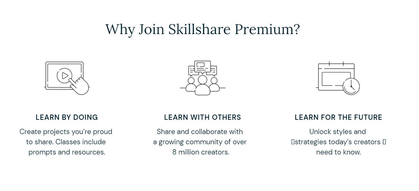 Skillshare 2 weeks free Premium Membership