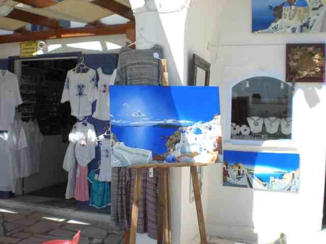 santorini greek shopping