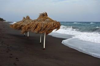 Perissa Beach, Santorini, Greece
