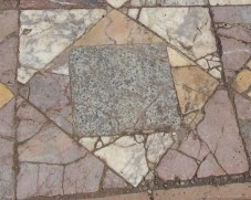 Ancient marble patterns on Palatine Hill