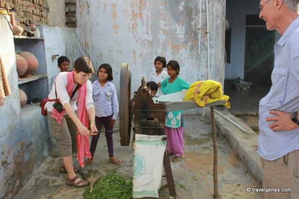 inside indian village home