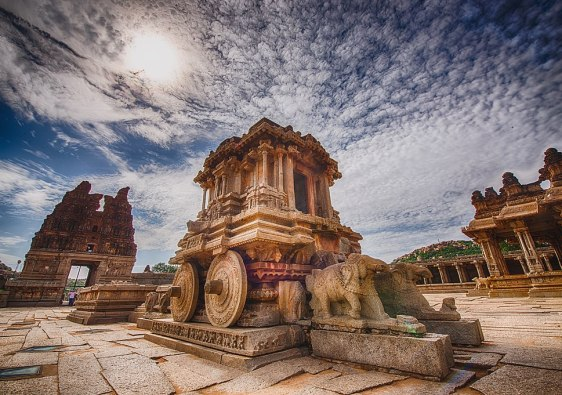 Hampi Stone Chariot with Sky