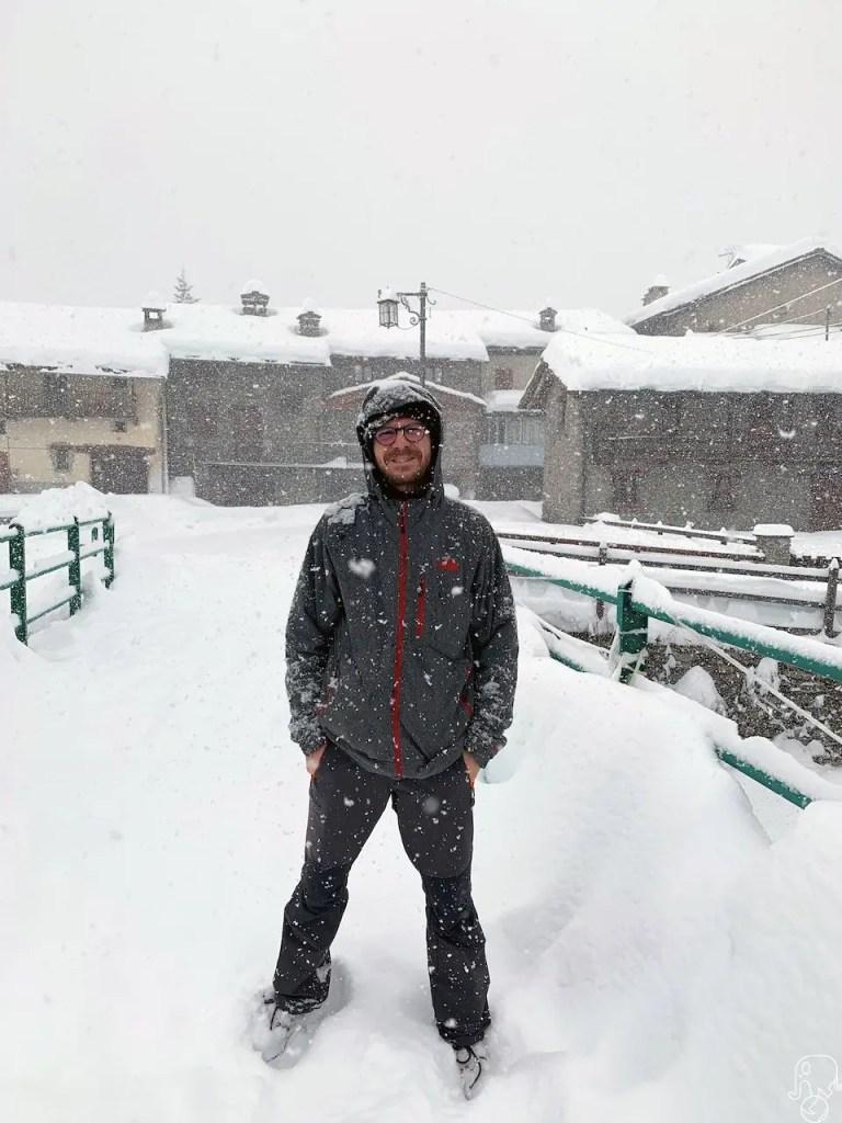 Chianale sotto la neve