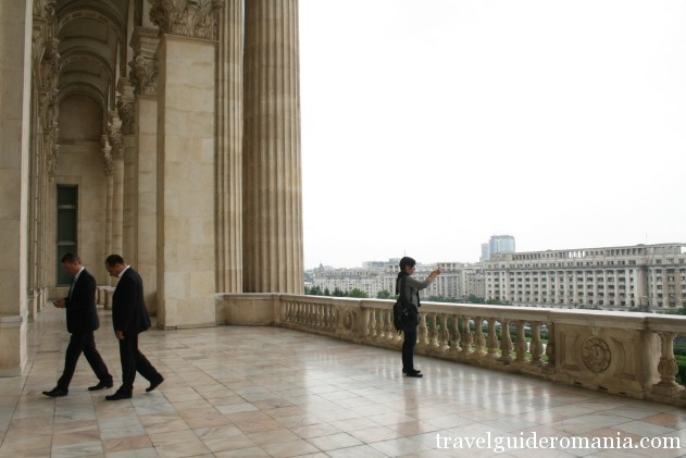 main balcony at Parliament buiding - Bucharest