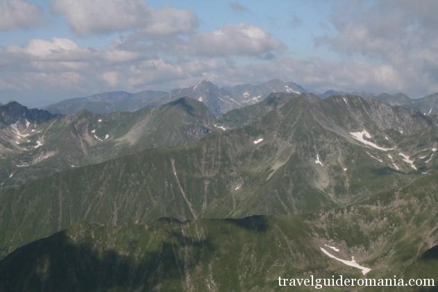 view from highest peak in Romania - Moldoveanu peak