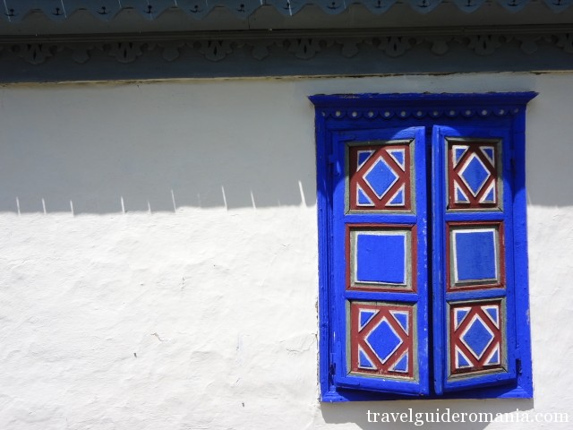 window at a traditional house in Tulcea area