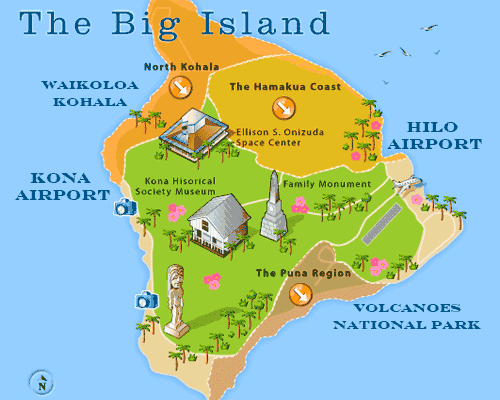 Big Island Resorts Hawaii Map For Visitors