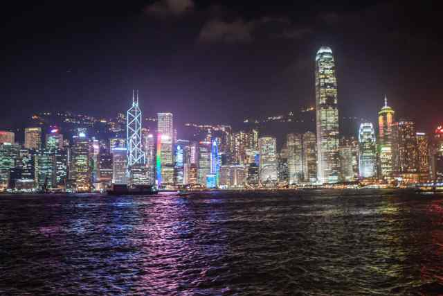 Victoria Harbor by Night - Hong Kong