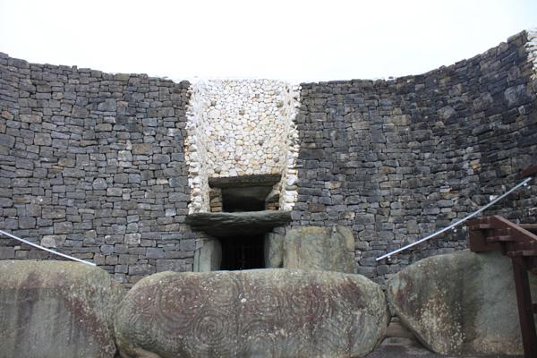 Entrance to Newgrange Passage Tomb - Co Meath Ireland
