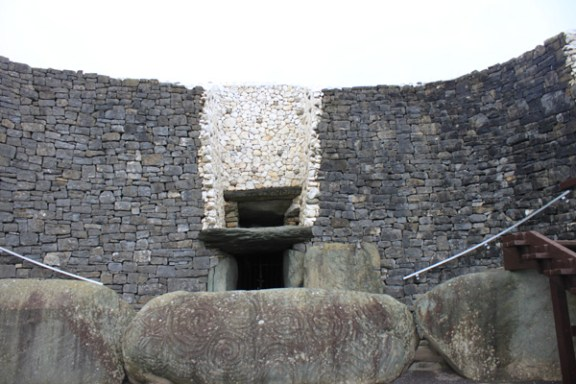 Entrance to Newgrange Passage Tomb - Co Meath Ireland
