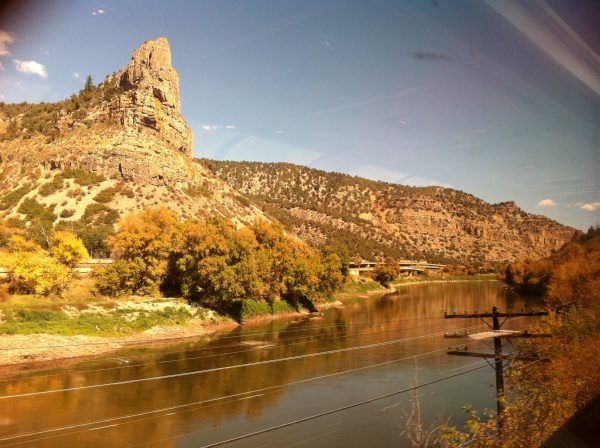 View from the California Zephyr Amtrak Train