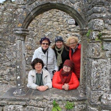 Travelin' Hags at Hoare Abbey in Ireland
