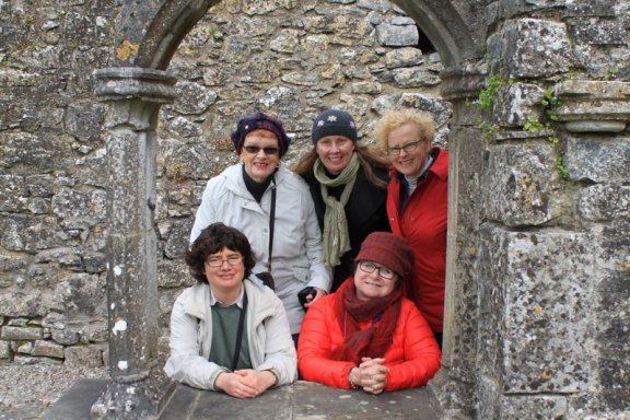 Travelin' Hags at Hoare Abbey in Ireland