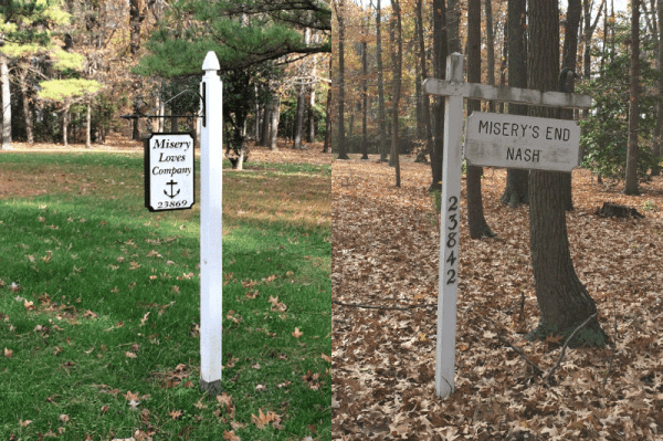 Mount Misery Signs