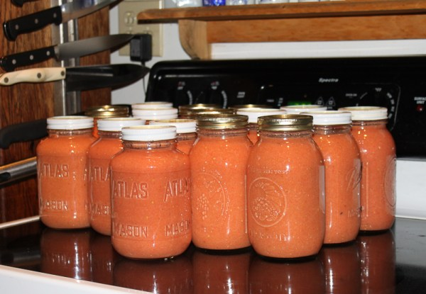 Canned gazpacho - the finished result