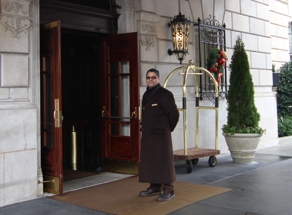Doorman at the Hay Adams Hotel Entrance.