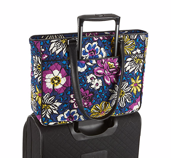 Vera Bradley Work Tote showing Trolley Sleeve