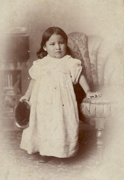 Zintkala Nuni - Lost Bird around age 3 in her parent's Washington DC home.
