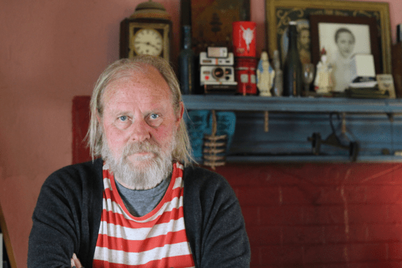 Artist, Francis Van Maele, owner of Redfoxpress on Achill Island