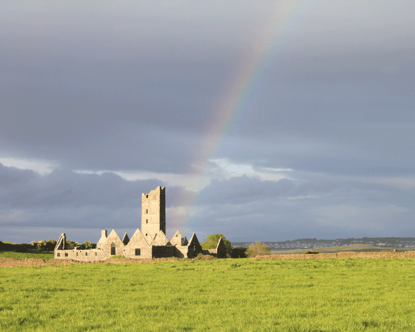 Rainbow over Moyne Abbey