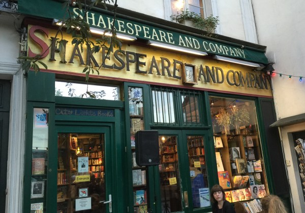 Shakespeare and Company building-left-bank Paris France