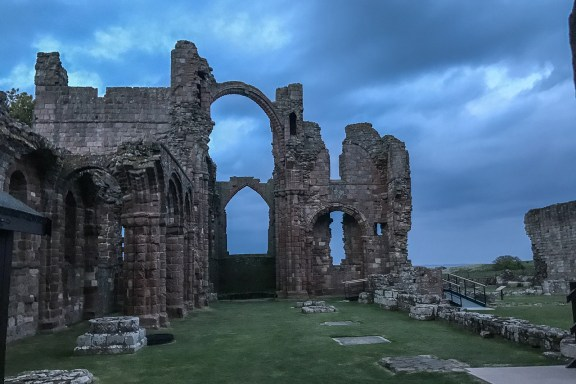 Lindisfarne Priory rainbow arch