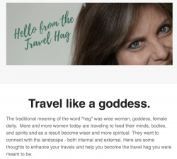 Sign up for the Travel Hag Newsletter