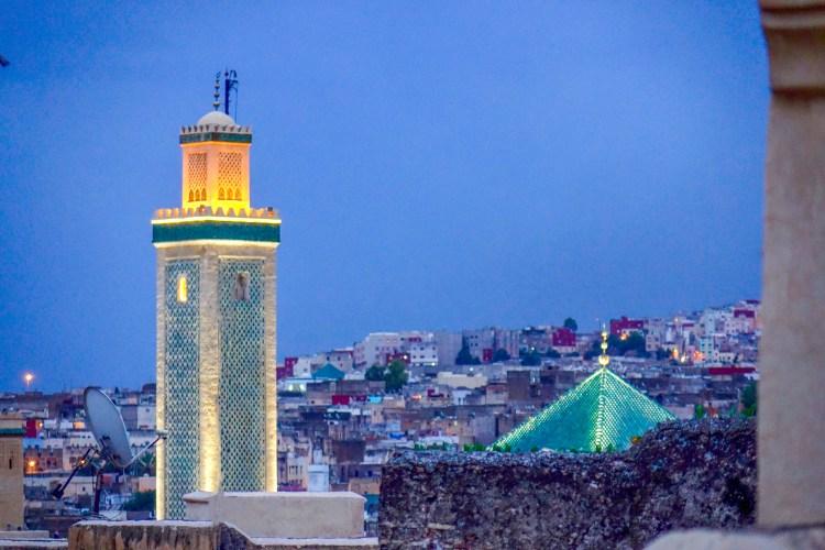 Fes Mosque at Dusk