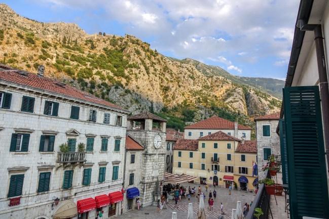 "Trg od Oružja (""Arms Square""): old town Kotor's main square."