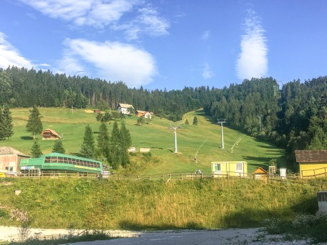 Slovenian ski lifts...on summer break.