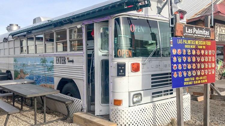 Las Palmitas Taco Bus West Yellowstone restaurant