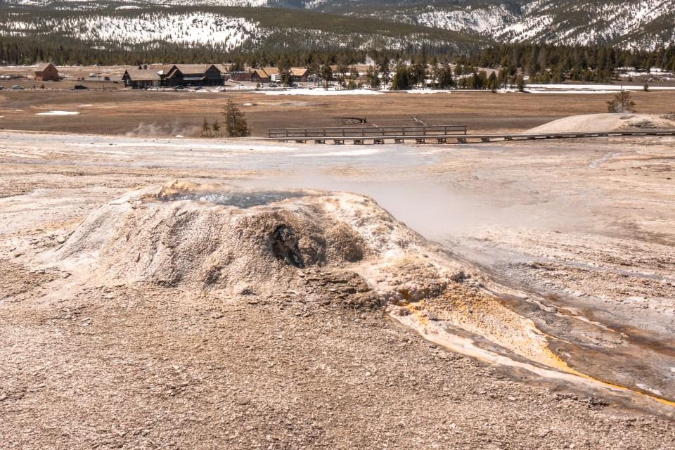 Yellowstone in April Upper Geyser Basin Sponge Geyser