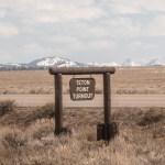 Grand Teton Road Trip Teton Point Turnout Sign