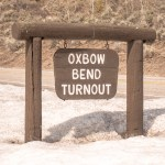 Grand Teton Road Trip Oxbow Bend Turnout Sign