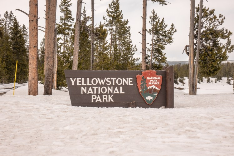 Grand Teton Road Trip - Yellowstone National Park South Entrance Sign