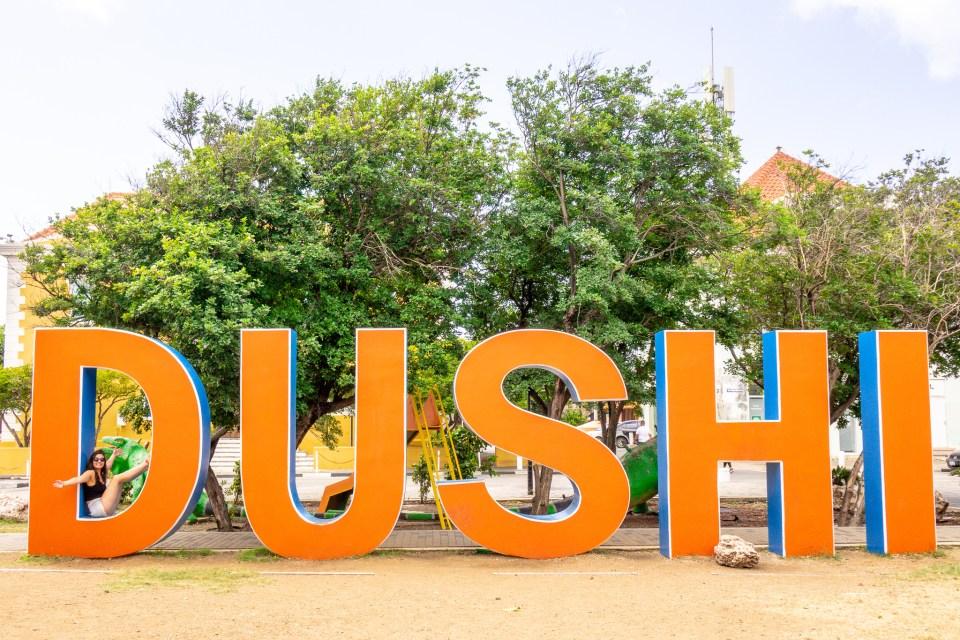 DUSHI sign - Punda, Curaçao