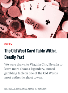 The Daily Beast Article - The Old West Card Table With a Deadly Past