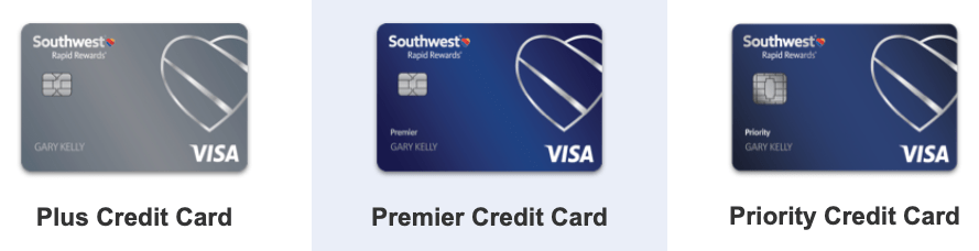 Chase Southwest credit cards Plus Premier Priority