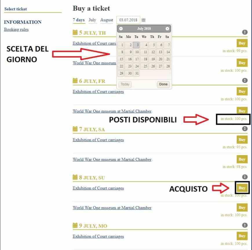 come acquistare online biglietti palazzo caterina pt.1