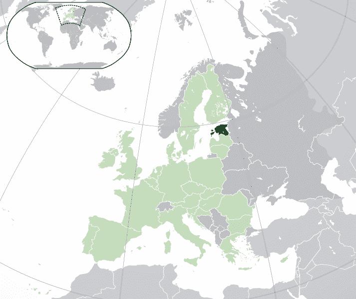 cosa vedere in Estonia cartina