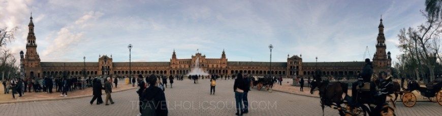 Panoramica piazza di Spagna