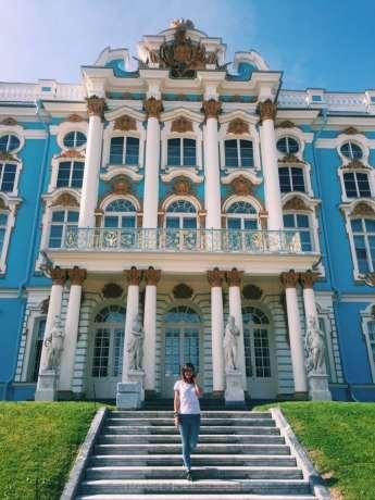 particolare palazzo di Caterina a Pushkin