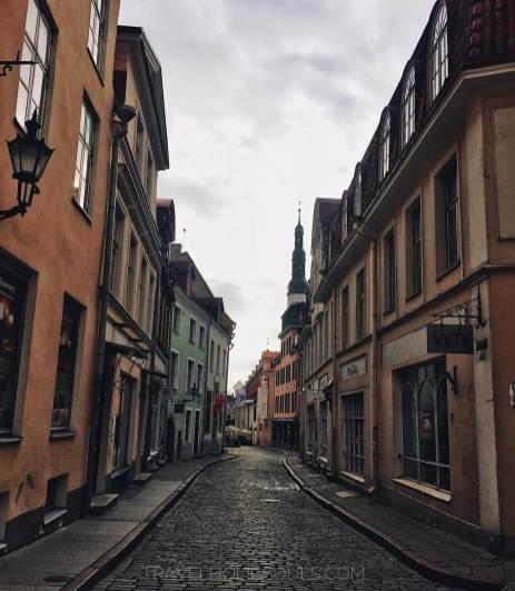 scorci medioevali di Tallinn in Estonia