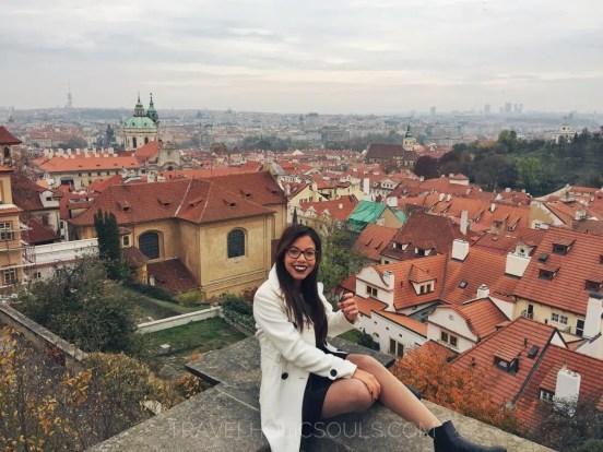 vista dal castello di praga