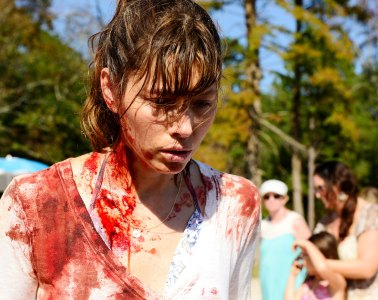 """THE SINNER -- """"Pilot"""" Episode 101 -- Pictured: Jessica Biel as Cora -- (Photo by: Brownie Harris/USA Network)"""
