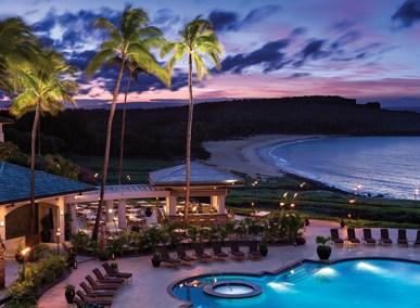 Night pool at Four Seasons Resort Manele Bay