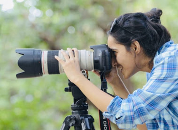 Woman wildlife photographer